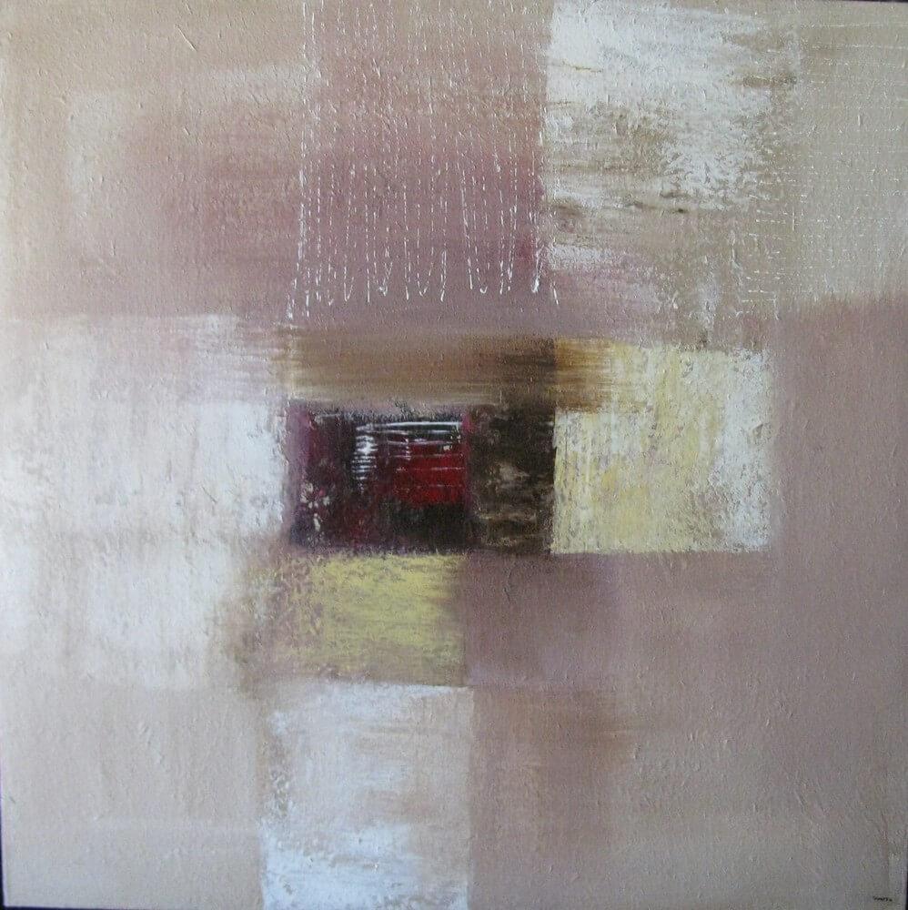 Tableau abstrait brun