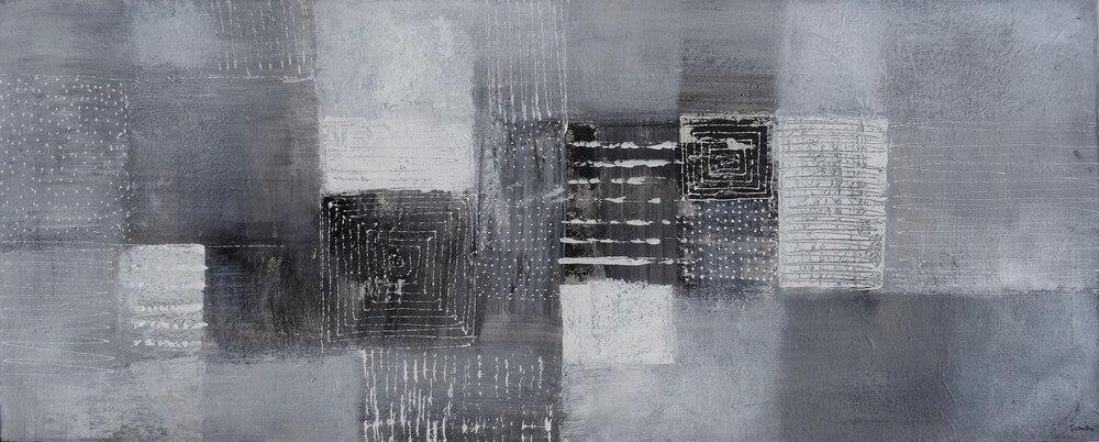 Tableau mural gris 100x40 cm