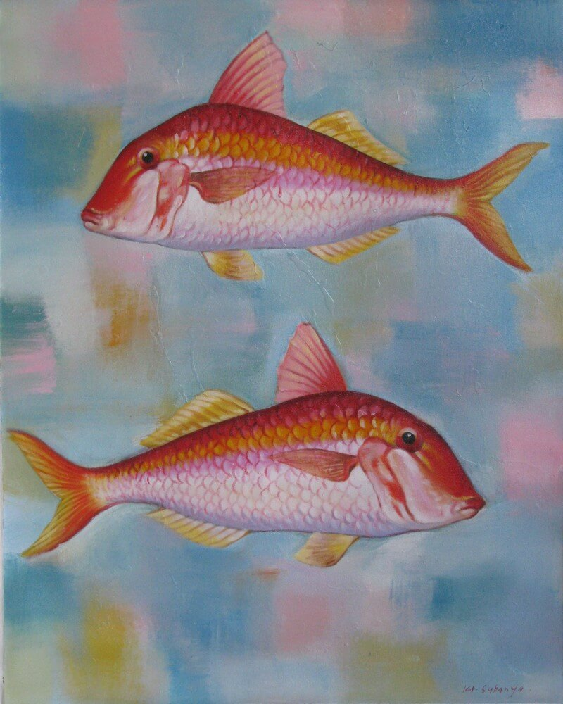 Tableau poissons rougets