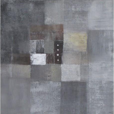 Tableau abstrait gris souris -80x80- Suarsa