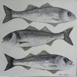 Peinture poissons Bar- 80x80 cm