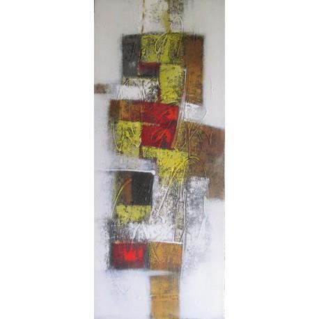 Toile peinture déco abstrait verticale- 120x50 cm
