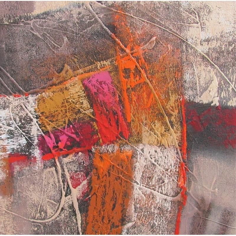 Tableau carr abstrait ton brun 80x80 cm - Peinture carre couleur ...