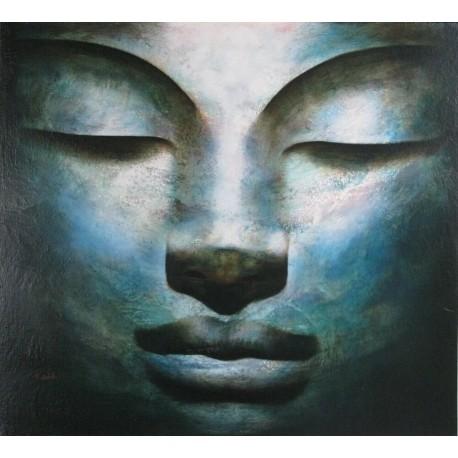 Bouddha-Tableau peinture à l'huile- 100x90 cm- Diarta