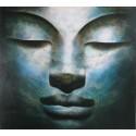 Bouddha zen-Tableau peinture à l'huile- 100x90 cm- Diarta
