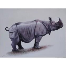 Tableau Rhinoceros -120x90 cm