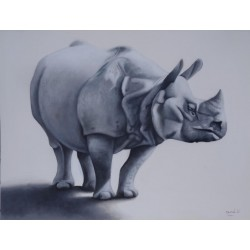 Tableau animal Rhinoceros -120x90 cm
