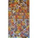 Tableau vertical poissons multicolores- 125x70 cm