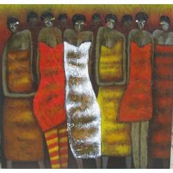 Tableau-Femmes en sarong- 130x125 cm