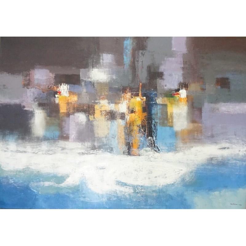 the beach peinture d corative xl format 200x140 cm. Black Bedroom Furniture Sets. Home Design Ideas
