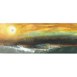 Peinture décorative: NIGHT SUNSET-100x40-Dex kusuma