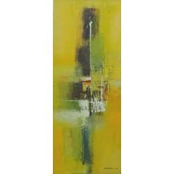 Peinture déco jaune: HARMONY-40x100-Dex kusuma