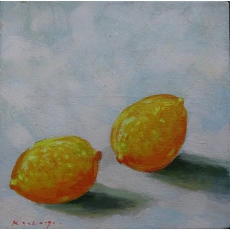 Mini peinture fruit Citrons- 30x30 cm