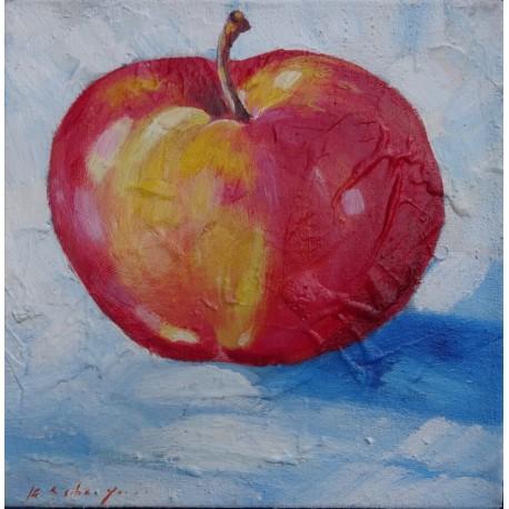Mini peinture fruit Pomme- 30x30 cm