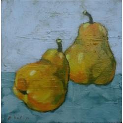 Mini peinture fruits Poires- 30x30 cm