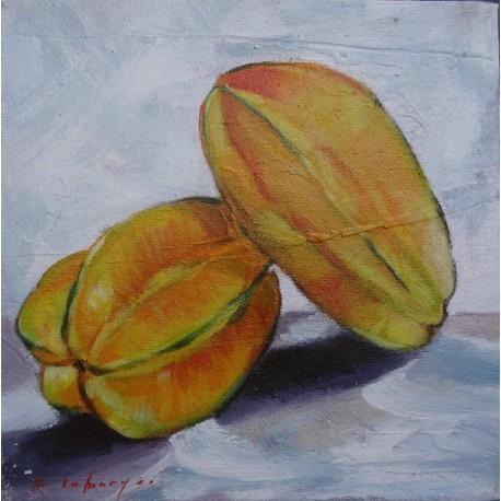 Mini peinture fruit Carambole- 30x30 cm