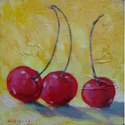 Mini peinture fruits Cerises- 30x30 cm