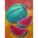 Mini peinture fruit Pastèque- 40x30 cm