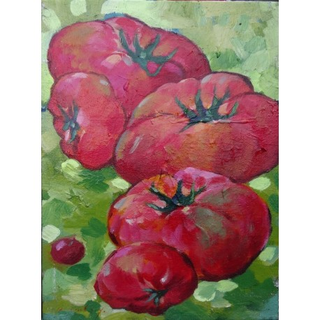 Mini peinture légumes Tomates- 40x30 cm