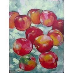 Mini peinture fruits Pommes - 40x30 cm