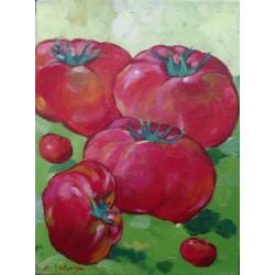 Peinture format mini - Tomates- 40x30 cm