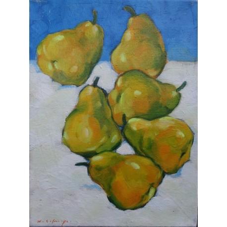 Mini peinture fruit Poires- 40x30 cm