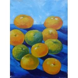 Mini peinture fruit oranges- 40x30 cm