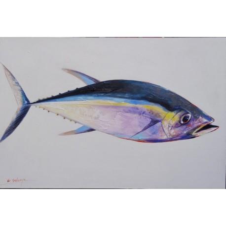 Tableau peinture de thon- 90x60 cm