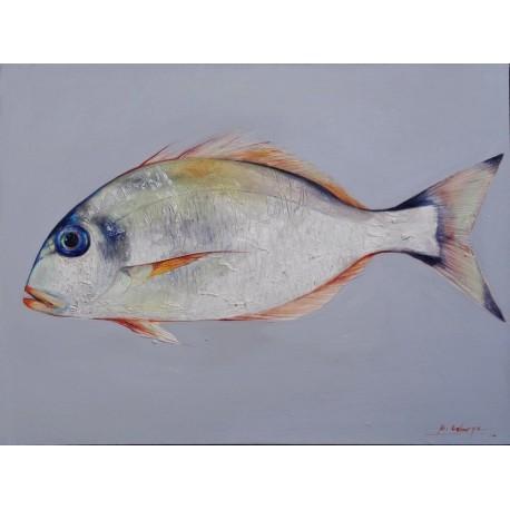 Tableau peinture dorade- 80x60 cm