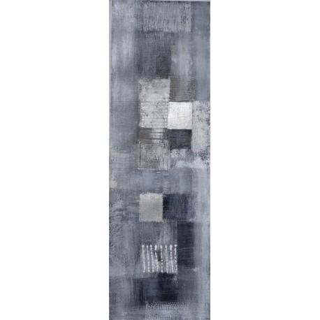 Tableau moderne vertical gris argenté - 120x38 cm