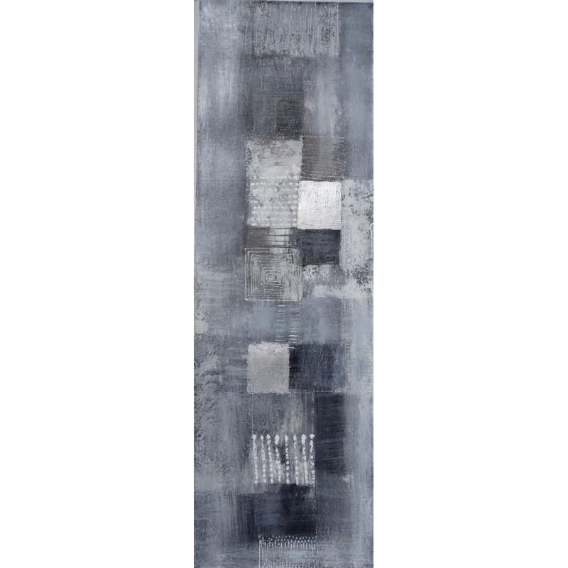 tableau moderne vertical gris argent 120x38 cm. Black Bedroom Furniture Sets. Home Design Ideas