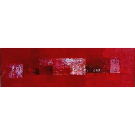 Toile rouge horizontale moderne- 100x30 cm
