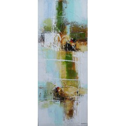 Water -Tableau artistique abstrait 100x40 cm - Dex Kusuma