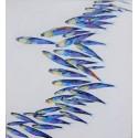 Banc de poissons fond blanc - tableau moderne 130x120 cm