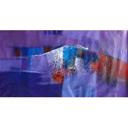 Tableau ton violet horizontal 150x80 cm
