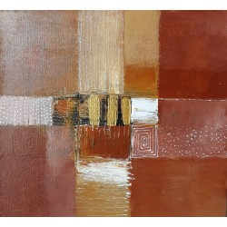 Petit tableau abstrait marron 50x50 cm