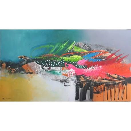 Tableau design style abstrait horizontal 160x90 cm