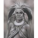PEINTURE FEMME PAPOUE- 100x80 cm