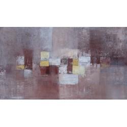 Tableau chambre horizontal ton bordeaux-brun rouge 140x80 cm