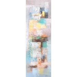 Tableau abstrait art Balinais 120x40 cm