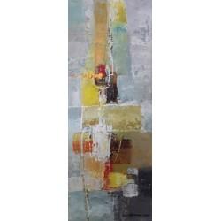 Petit tableau abstrait décoratif 50x20 cm