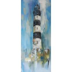 Tableau phare Breton- Ouessant-Le Creac'h 120x50 cm