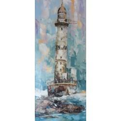 Tableau phare Breton- Ar Men 140x60 cm