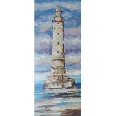 Peinture décorative phare de Cordouan 120x50 cm