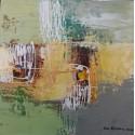Petit tableau abstrait format 25x25 cm