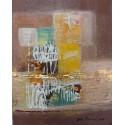 Mini peinture sur cadre marron 25x20 cm