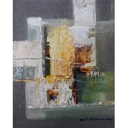 Mini peinture deco ton gris 25x20 cm