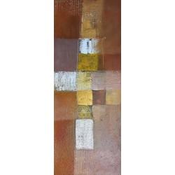Toile deco murale verticale marron 100x40 cm