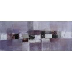 Toile décorative gris pourpre horizontale- 120x50 cm