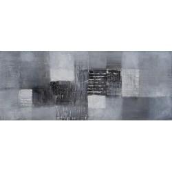 Tableau mural à dominante grise format 100x40 cm